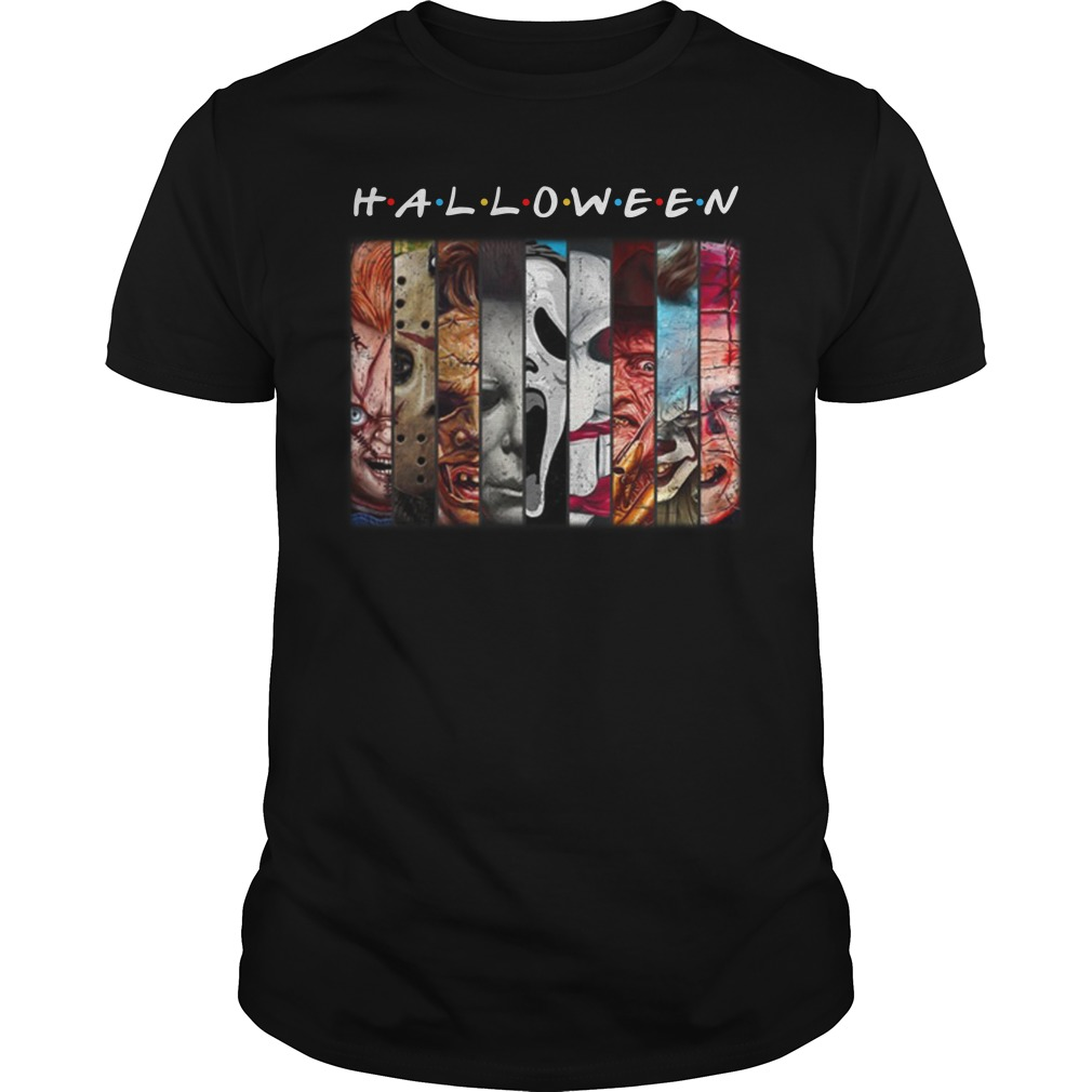 Halloween horror character friends shirt