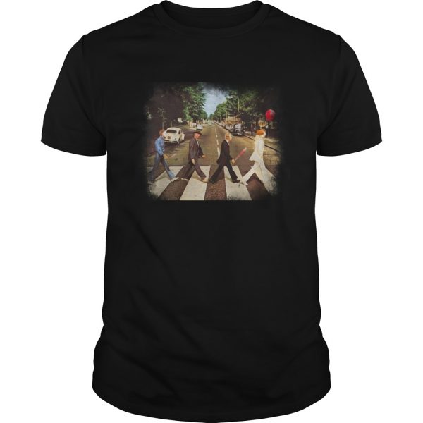 Horror Characters Abbey Road Walk shirt
