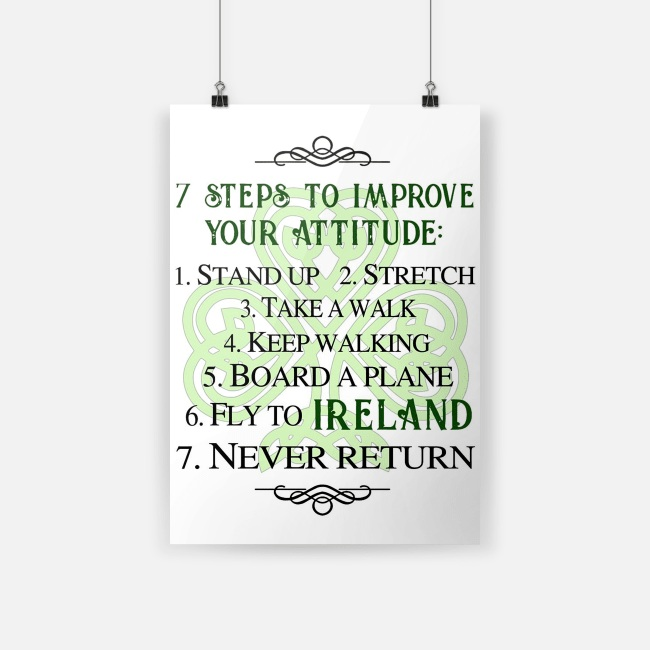 Irish 7 steps to improve your attitude small poster