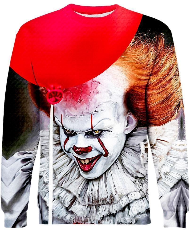 Pennywise Stephen King 3D sweatshirt