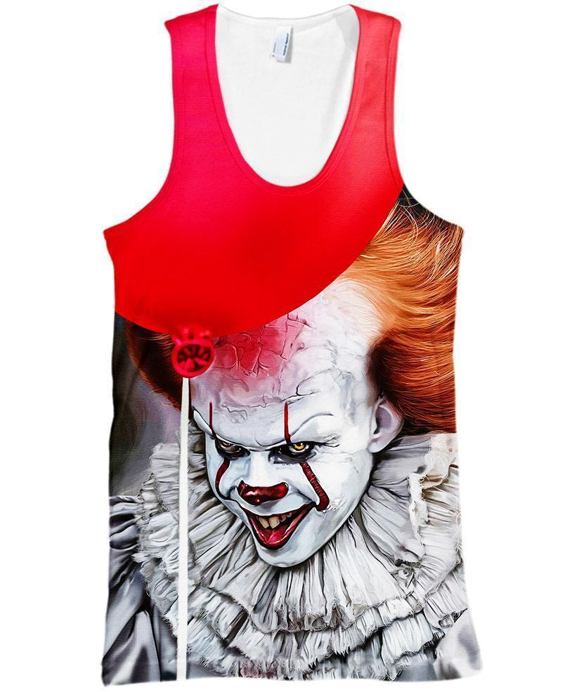 Pennywise Stephen King 3D tank top