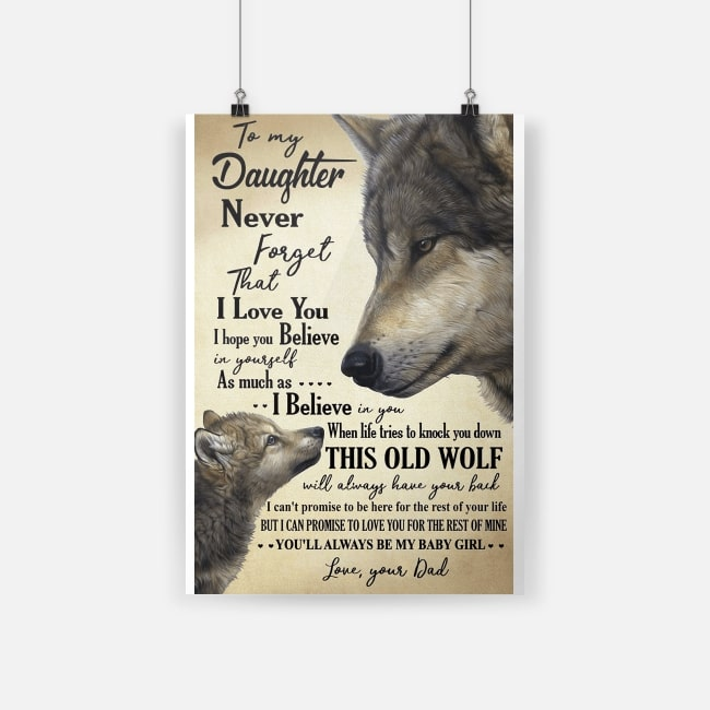 Wolf to my daughter never forget that I love you small poster