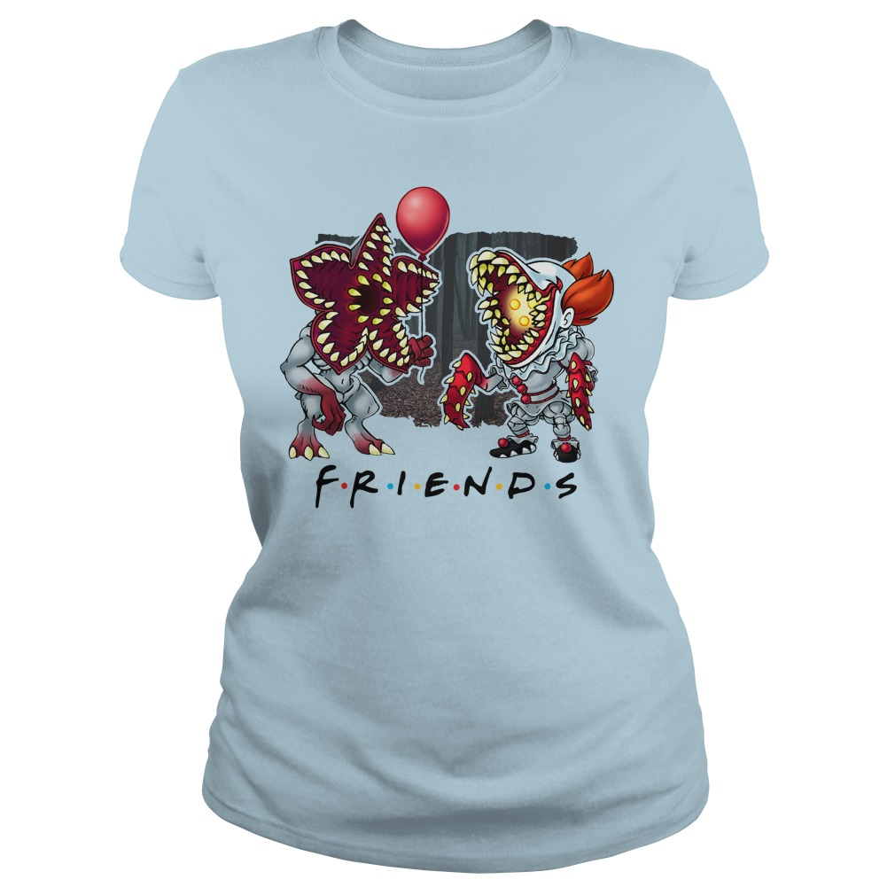 IT Pennywise Stranger Things Friends Lady Shirt