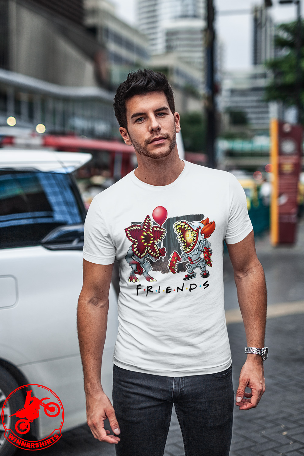IT Pennywise Stranger Things Friends Shirt