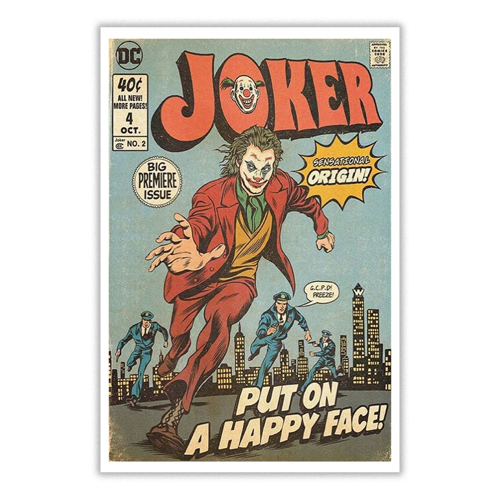 Joker put on a happy face small poster