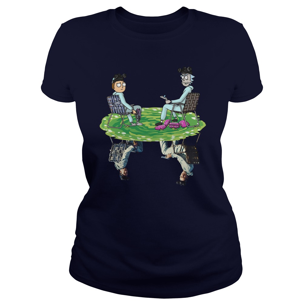 Rick and Morty Crossover Walter and Jesse Breaking Bad Lady Shirt