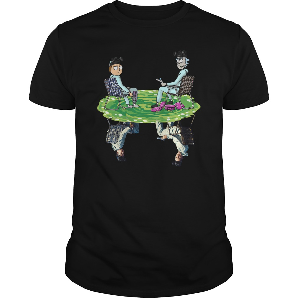 Rick and Morty Crossover Walter and Jesse Breaking Bad Unisex Shirt