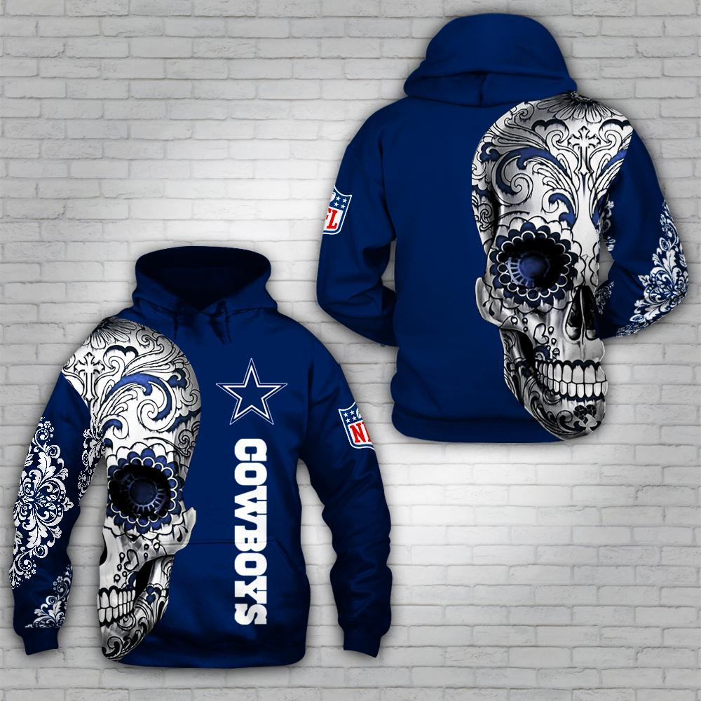 Skull tattoo Dallas Cowboys all over print hoodie