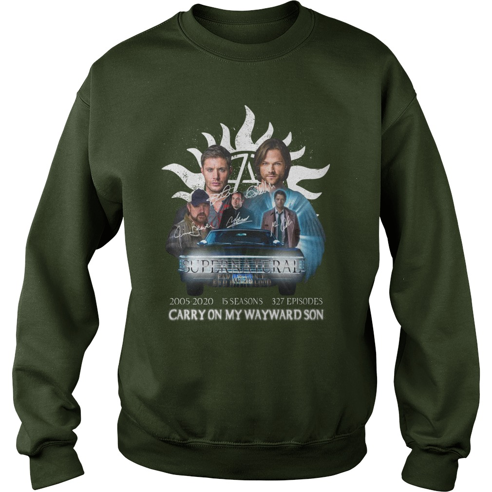 Supernatural carry on my wayward son all cast signed sweatshirt