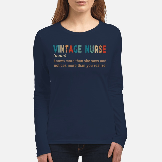 Vintage nurse knows more than she says and notices long sleeve