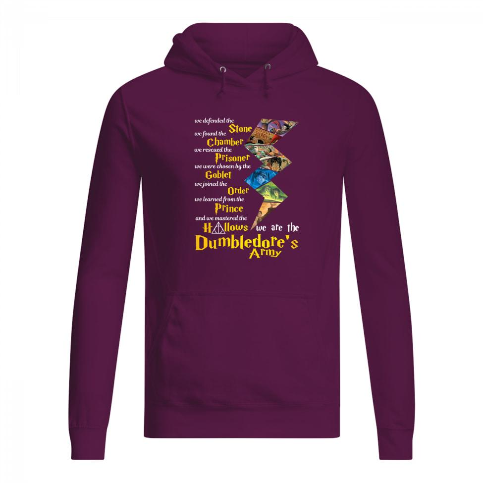 We defended the Stone we found the Chamber we are the Harry Potter women hoodie