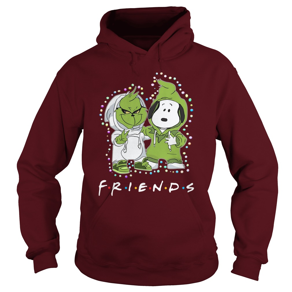 Baby Snoopy and Grinch Light Christmas Best Friends Forever Hoodie