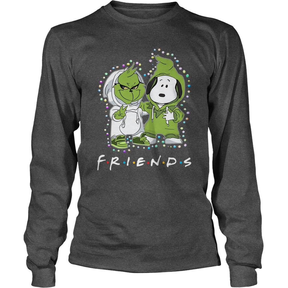Baby Snoopy and Grinch Light Christmas Best Friends Forever Long Sleeve