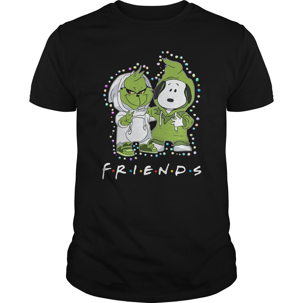 Baby Snoopy and Grinch Light Christmas Best Friends Forever Shirt