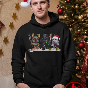 Boba Fett Darth Vader and Stormtrooper Christmas Shirt