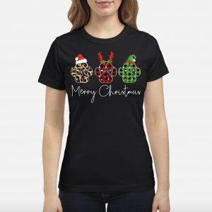Dog Paws Merry Christmas Cute Shirt