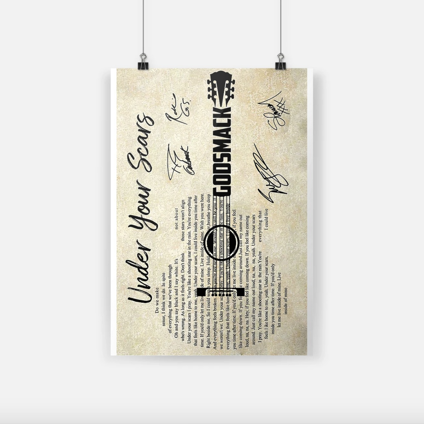 Godsmack under your scars signature small poster