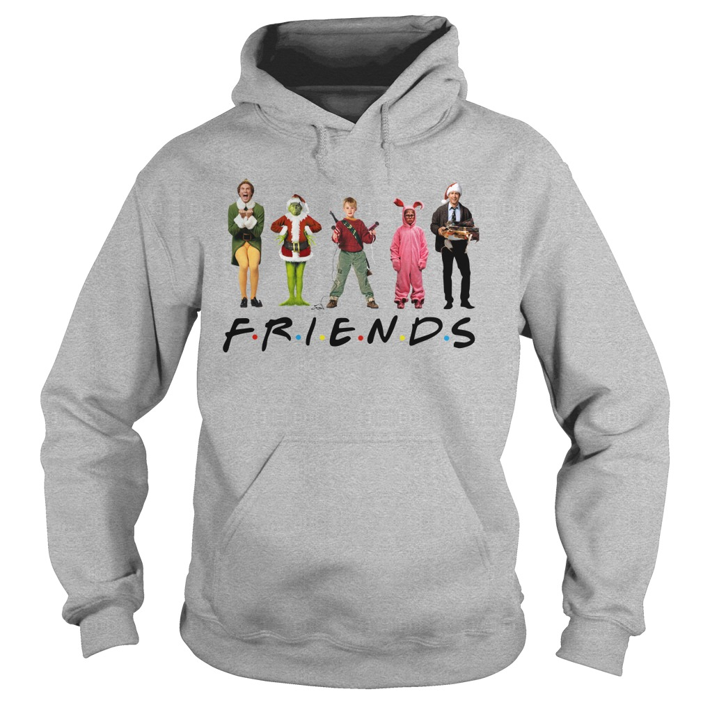 Grinch Kevin McCallister Chandler Bing Clark Griswold Friends hoodie