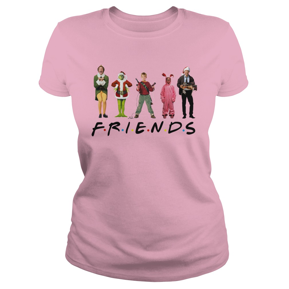 Grinch Kevin McCallister Chandler Bing Clark Griswold Friends lady shirt