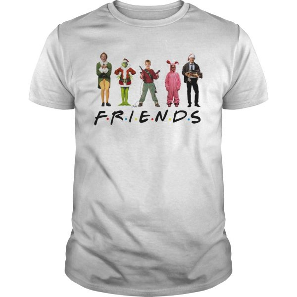 Grinch Kevin McCallister Chandler Bing Clark Griswold Friends shirt
