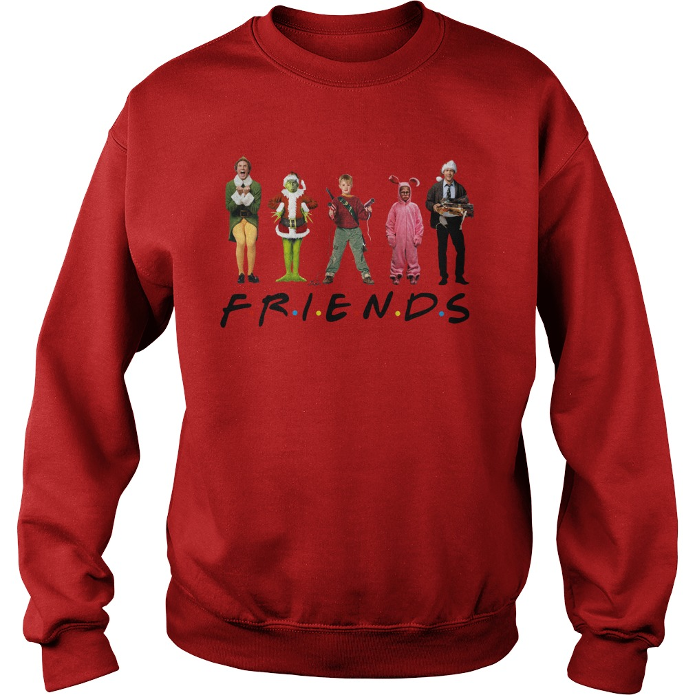 Grinch Kevin McCallister Chandler Bing Clark Griswold Friends sweatshirt