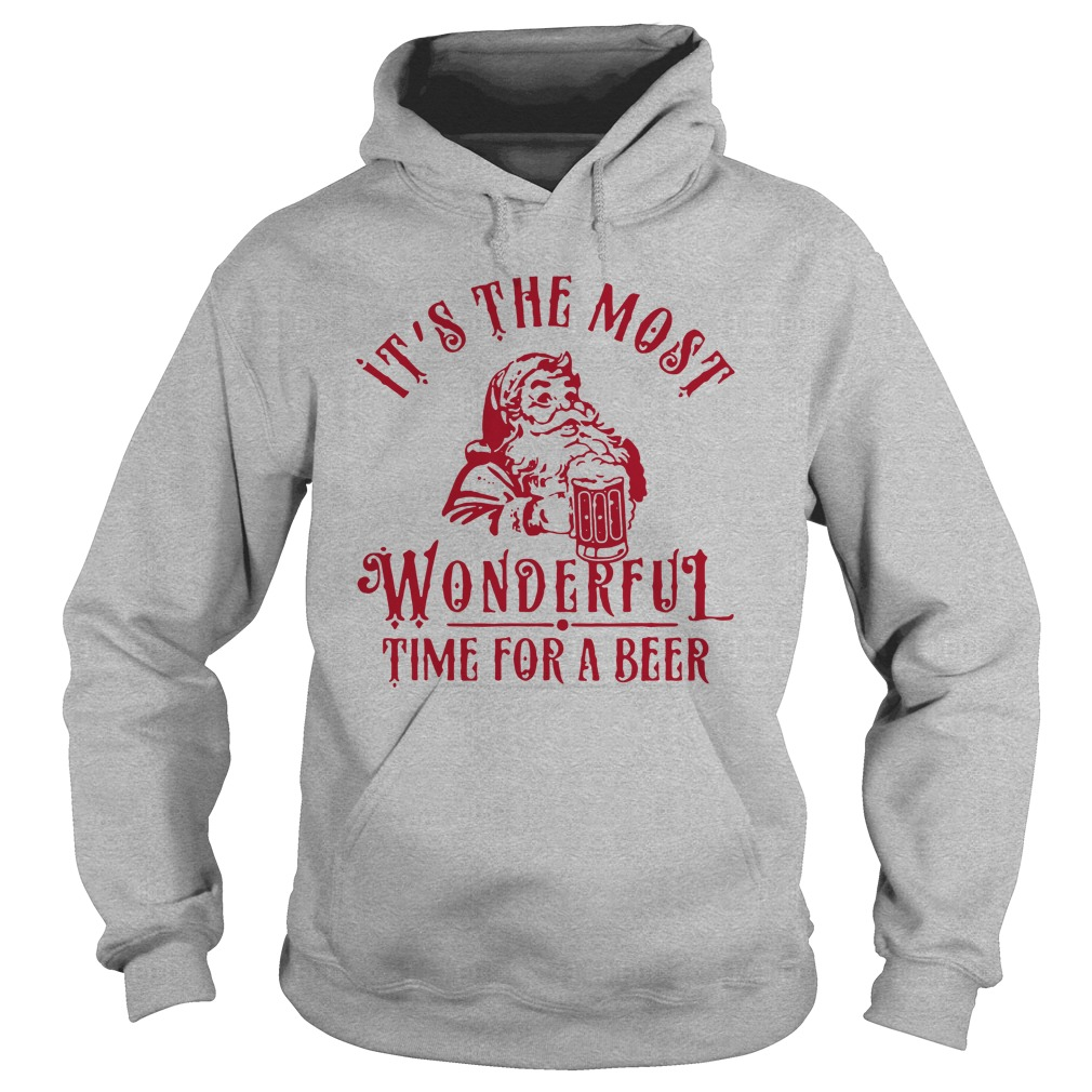 It's the most wonderful time for a beer Christmas hoodie
