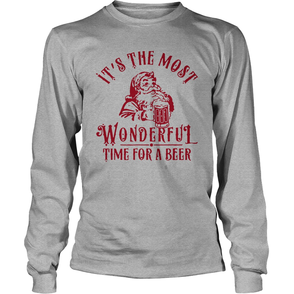 It's the most wonderful time for a beer Christmas long sleeve