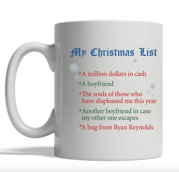 My Christmas list a million dollars in cash mug
