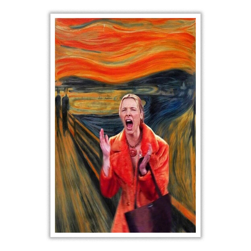 My Eyes Friends The Scream Small Poster