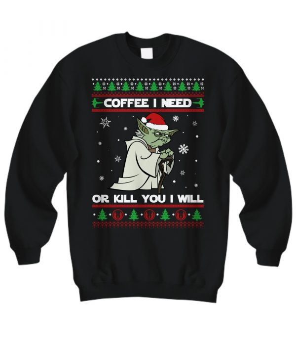 Seagull Star Wars coffee I need or kill you I will ugly sweater