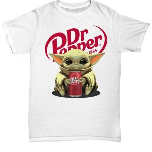 Baby Yoda take Dr Pepper Christmas shirt