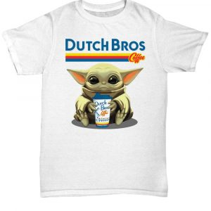 Baby Yoda take Dutch Bros Coffee Christmas shirt