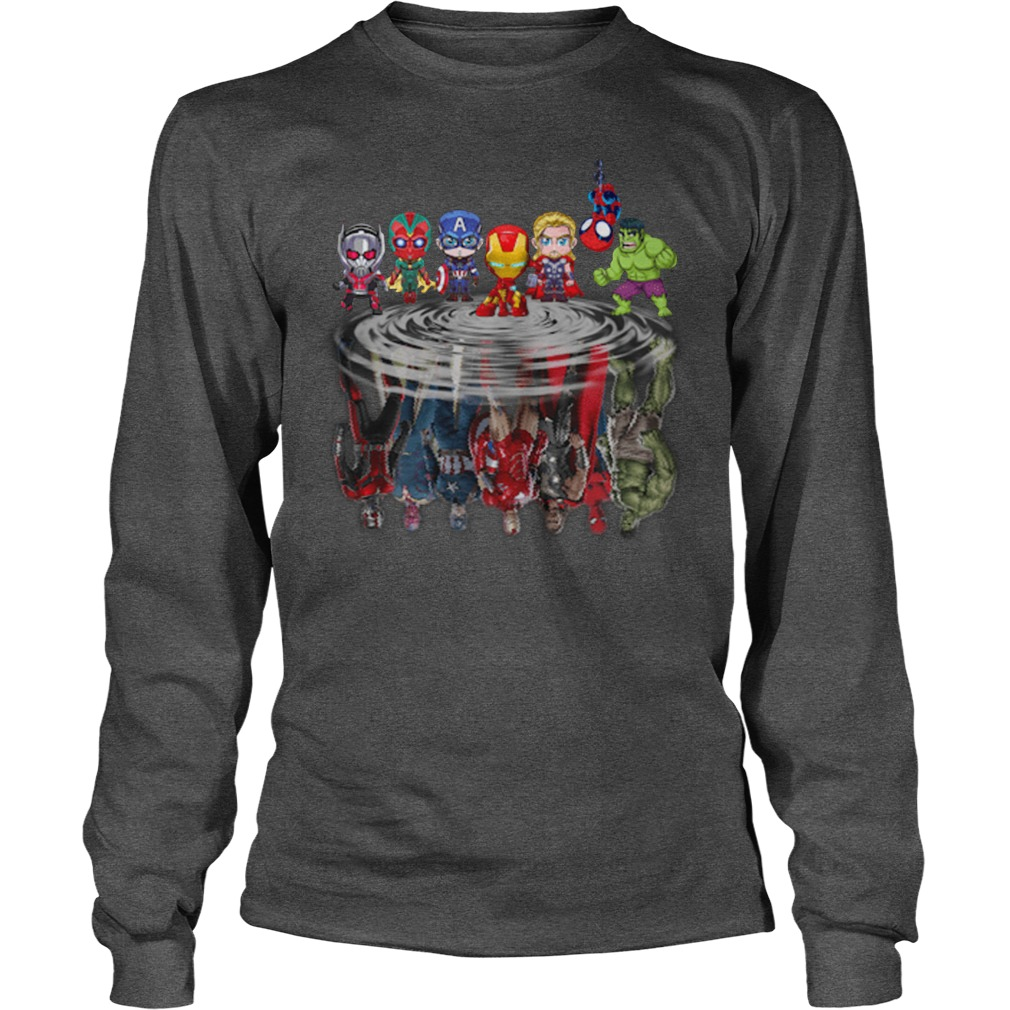 Baby marvel super heroes reflect long sleeve