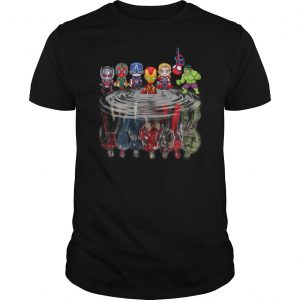 Baby marvel super heroes reflect shirt