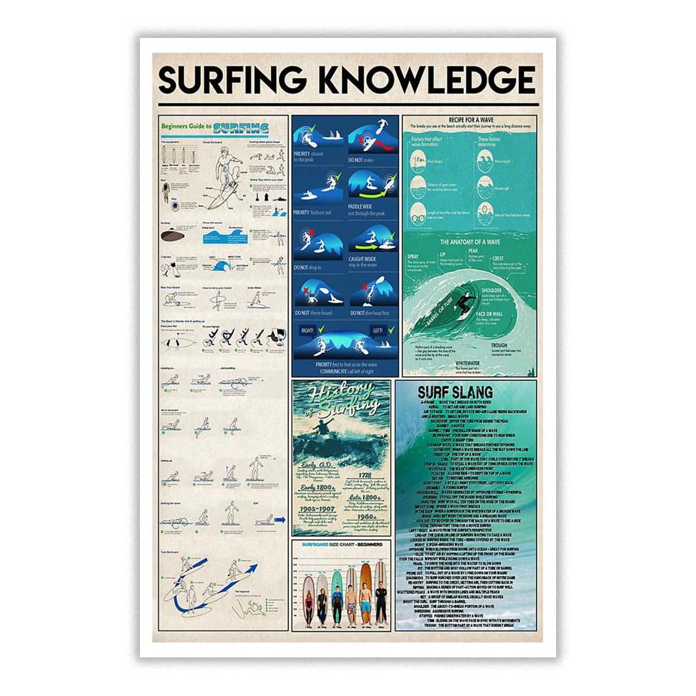 Surfing knowledge small poster