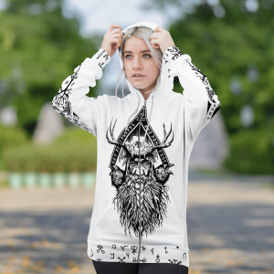 Viking Odin Raven And Yggdrasil Hoodie 3D