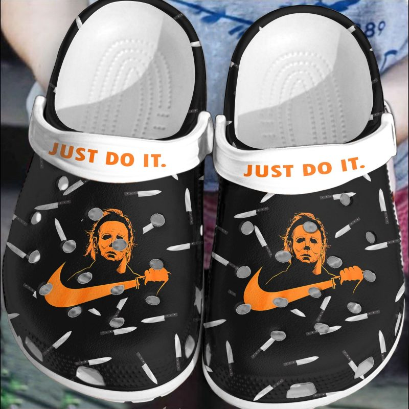 Halloween Voorhees Myers Just do it Nike clogs crocs shoes