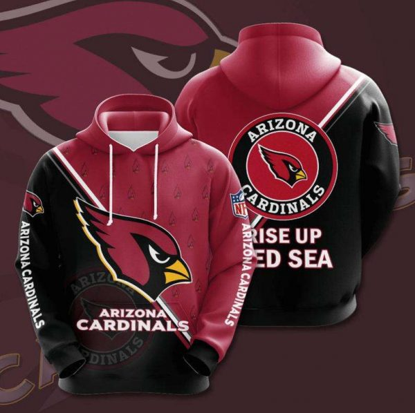 Arizona Cardinals Rise up Red Sea NFL Logo 3D Hoodie LIMITED EDITION