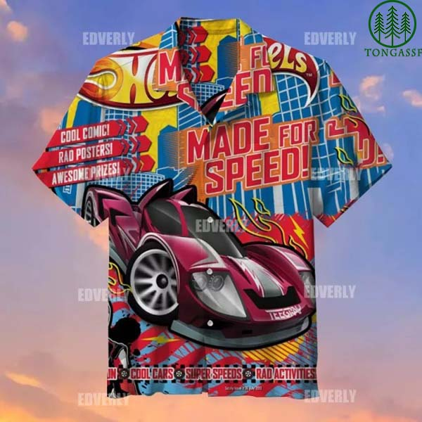 Hot wheels Teegray supper Speed All over Printed Shirts