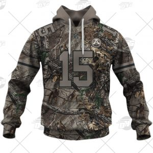 NFL Camo Real Tree Kansas City Chiefs Patrick Mahomes Jersey Clothes Hunting Gear Personalized