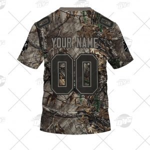 NFL Camo Real Tree Tampa Bay Buccaneers Jersey Clothes Hunting Gear Personalized