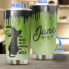 Custom Name Black Cat In a world full of princesses be a witch Tumbler