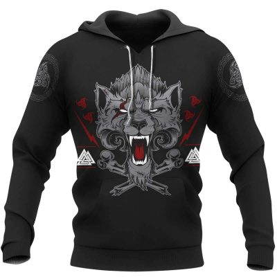 Wolf Of Odin Viking 3D AOP 3D T-shirt and Hoodie