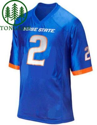 NCAA Boise State Broncos Style Customizable Jersey Blue
