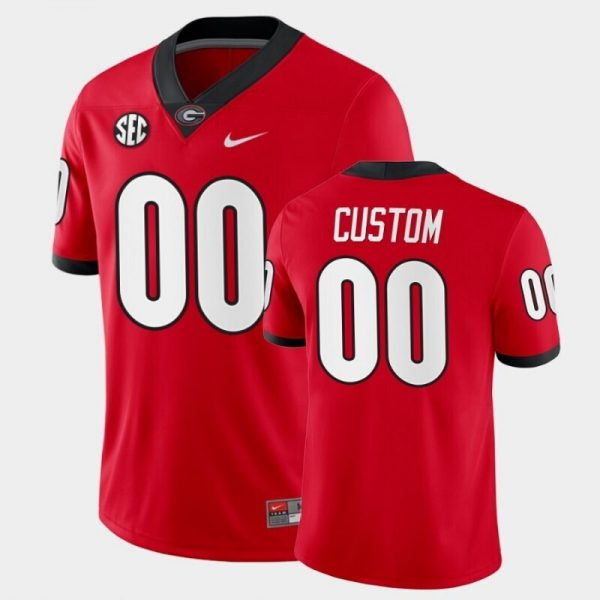 Georgia Bulldogs Custom Name and Number Red College Football Home Game Jersey