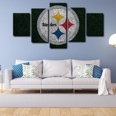 NFL Pittsburgh Steelers Symbol 5 Panel Canvas
