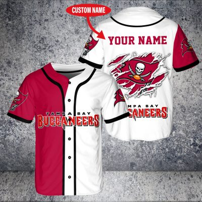 Personalized NFL Tampa Bay Buccaneers Baseball Jersey Shirt