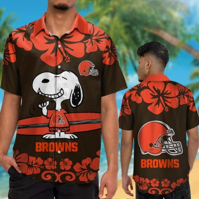 NFL CLEVELAND BROWNS SNOOPY HAWAIIAN SHIRT SPECIAL EDITION
