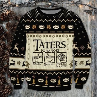 Lord of the Rings TATERS POTATOES UGLY SWEATER