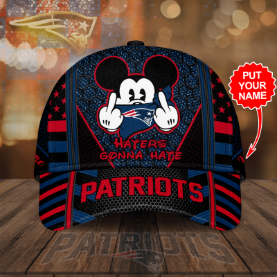 Custom Name NFL New England Patriots Haters Gonna Hate 3D Cap